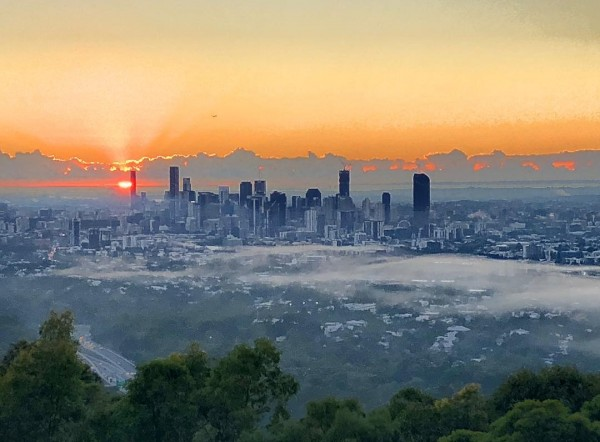 View from Mt Cootha in the morning